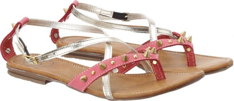 Ilo Women Pink Gold Flats