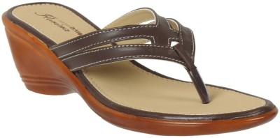 Action Shoes Women Brown Wedges