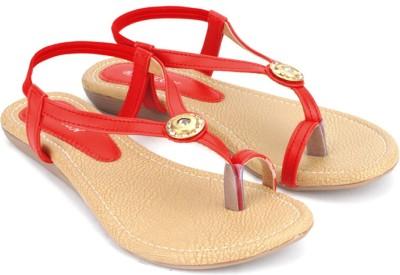 Babylon Women Red Flats
