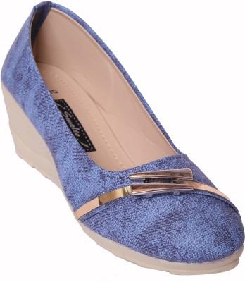 Smalto Women Blue Wedges