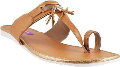 WALKWAY Women Tan Flats
