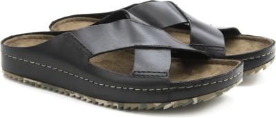 Clarks Netrix Cross Black Leather Men Black Sandals