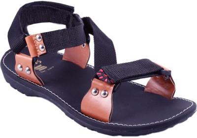 Stylos Men Black Sandals