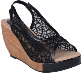 Aroom Women Black Wedges