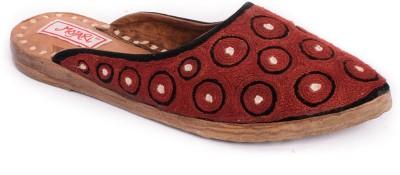 Mojari Women Maroon Flats