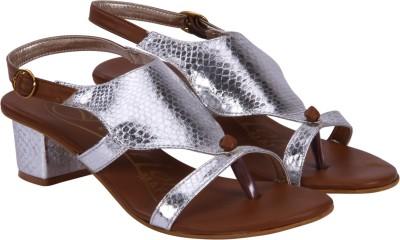 FASHION MAFIA Girls Silver Heels