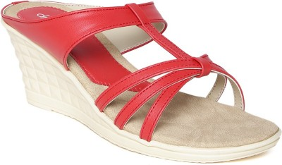Dressberry Women Red Wedges