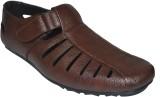 Human Steps Men Brown Sandals