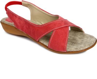 Urban Woods 661-5702-Red Women Red Flats