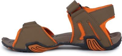 Tannis Men Camel, Orange Sports Sandals