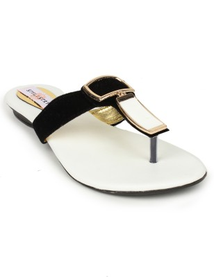Stylistry Women Black, White Flats