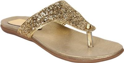 Glitzy Galz Women Gold Flats