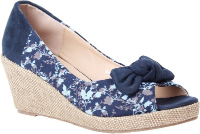 Foot Candy Women Black Wedges