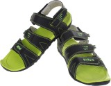 Hytech Men Black Sandals