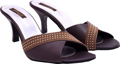 Femine Women Brown Heels