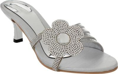 Bare Soles Women Silver Heels