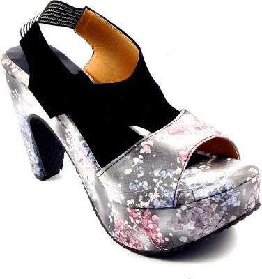 INDIANO Women Grey Heels