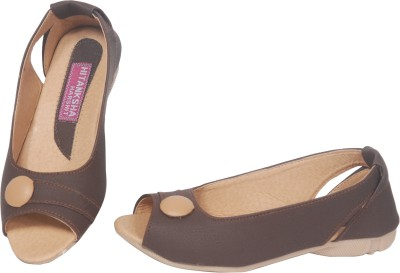 AMERICAN FITS Women Brown Flats