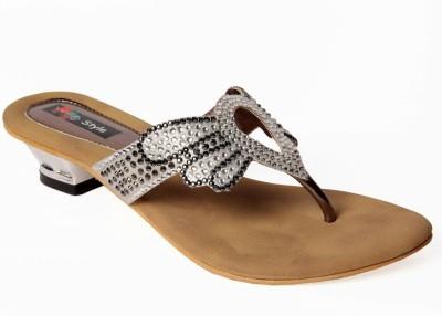 Meestyle Women Silver Heels