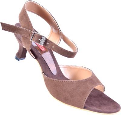 Stiletto Women Brown Heels
