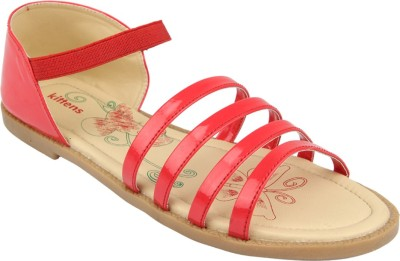 Kittens Girls Red Sports Sandals