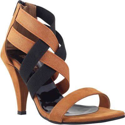 Mochi Women Tan Heels
