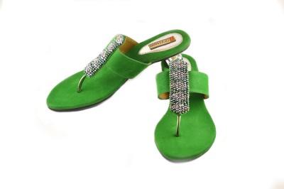 Gressum Women Green Heels
