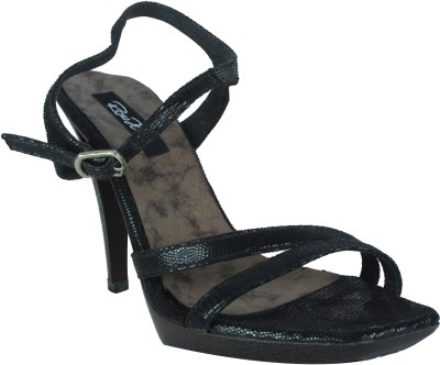 Raw Hide Women Black Heels