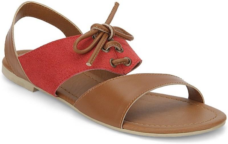 Zebba Women Red Flats