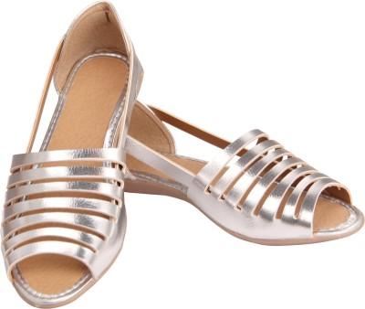 Fabtag Women Silver Flats