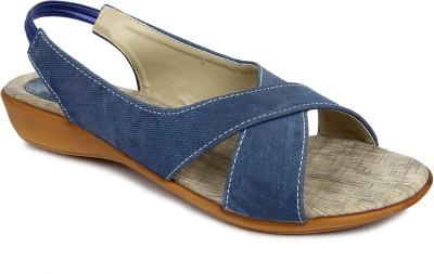 Urban Woods 661-9702-Blue Women Blue Flats