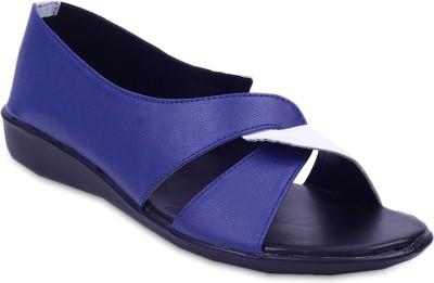 Fabme Sober Women Blue Flats