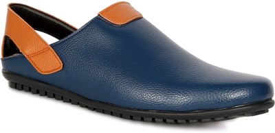 Braavosi Men, Boys Blue, Orange Sandals
