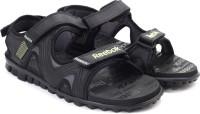 Reebok Men BLACK/ASH GREY/LIME Sports Sandals