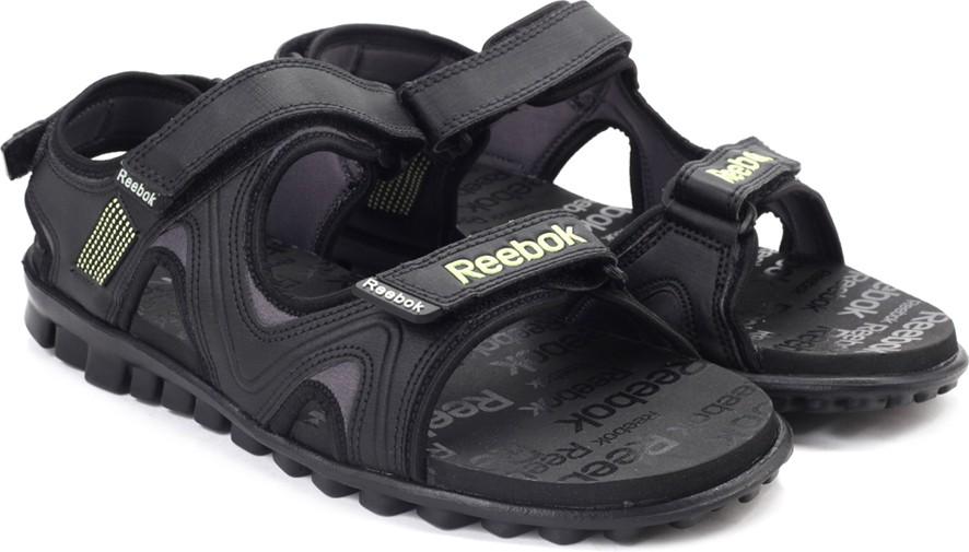 87ac147a3 Reebok Men BLACK ASH GREY LIME Sports Sandals was ₹1999 now ₹1089