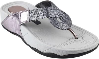 Mochi Women Grey Flats