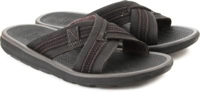 Clarks Kernick Cross Black Nubuck Men Black Sandals
