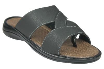 Leatherworld Men Black Sandals