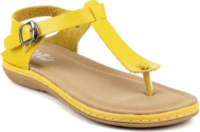 FEET FLOW Women Yellow Flats