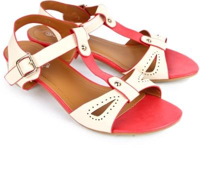 Starchi Women Red, White Heels