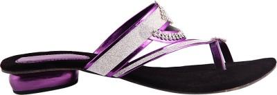 Kala Sanskriti Women Purple, Black Heels