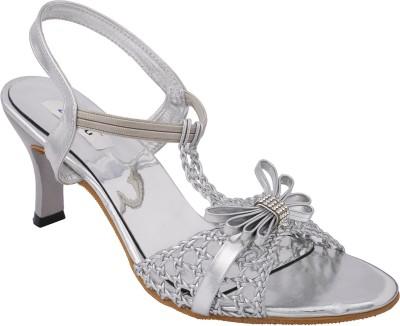 Allinyou Women Silver Heels