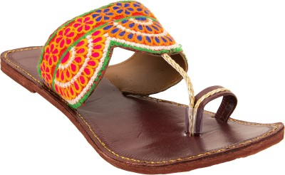 Royal Collection Women Maroon, Blue Flats