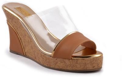 Zaera Women Gold, Tan Wedges