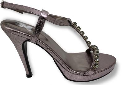 Gossip Women Black, Grey Heels