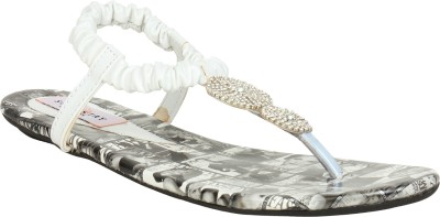 Stylistry Stylistry White Color Women Flats Sandal Women White Flats