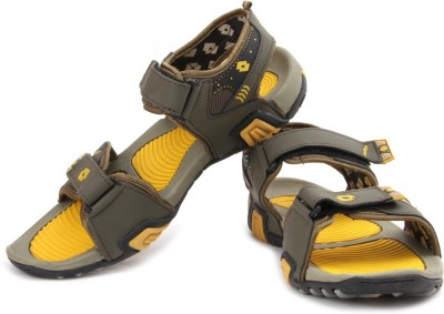 Lotto R Men Olive, Yellow Sandals