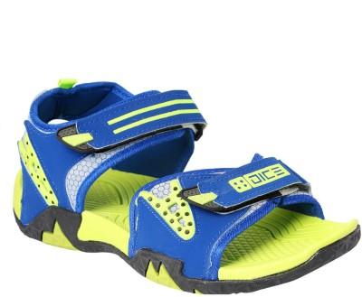 Dice Men Blue, Green Sandals