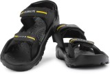 Globalite Men Black Yellow Sports Sandal...