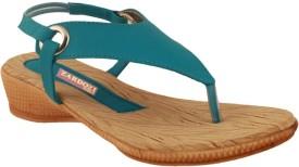 Zardozi Women Blue Sports Sandals
